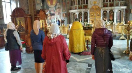 В Свято-Ильинском храме прошел очередной молебен перед иконой Божией Матери «Помощница в родах»